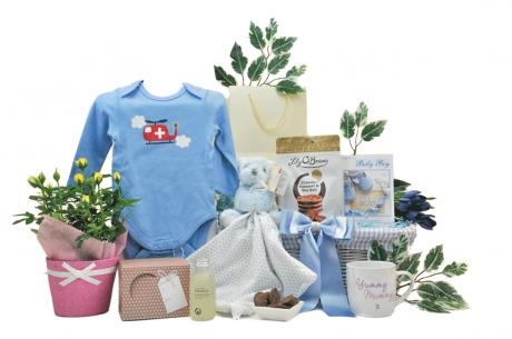 Blooming Mummy & Baby Boy Gift Basket