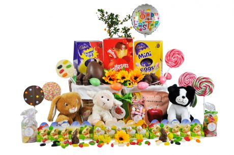 Easter Bunny Gift Basket For 3 Kids