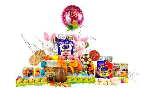 Easter Bunny Basket For 2 Children