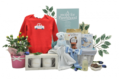 Baby Boy Bouquet Family Basket