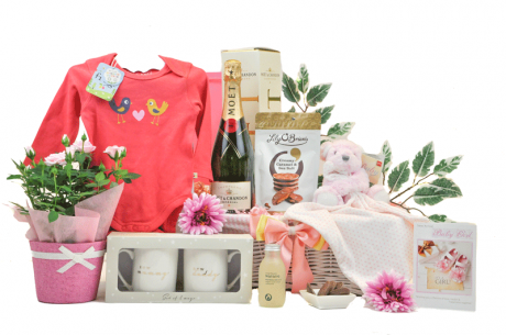 Flowers and Champagne Baby Girl Hamper