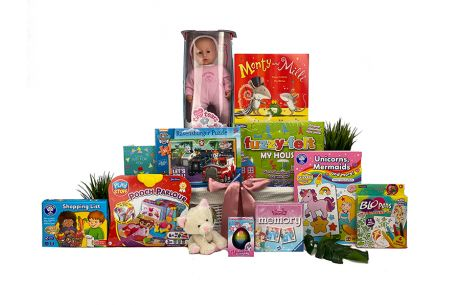 Fun and Games Girl Gift Basket Age 3-4