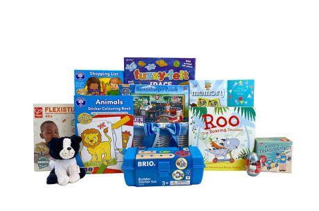 Fun and Games Boy Gift Basket Age 3-4