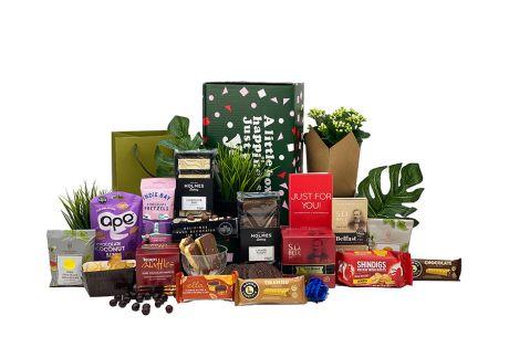Winter Crimson Gift Box with Flower