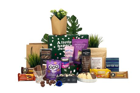Winter Indigo Gift Box with Flower