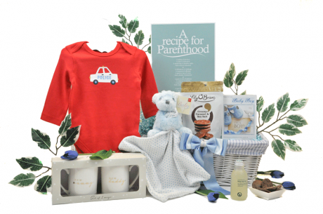Recipe For Parenthood Baby Boy Gift Basket
