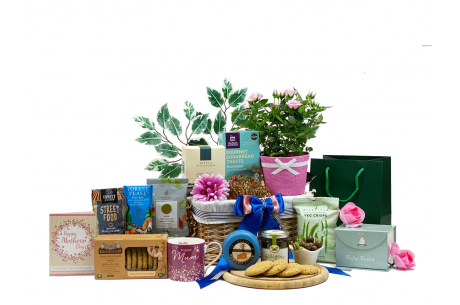 Mother's Day Flowers and Savoury Gift Basket