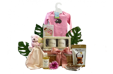Mummy Daddy and Baby Girl Basket