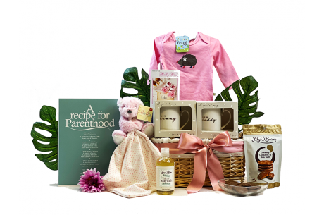 Recipe For Parenthood Baby Girl Gift Basket