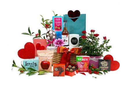 Valentines Flowers and Treats Gift